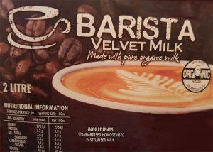 organic barista milk